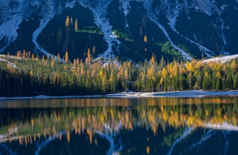 Mountains Lake Forests Italy South Tyrol 4k Wallpaper