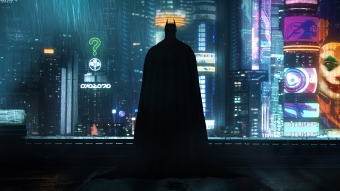 Neon Gotham Batman 4k Wallpaper