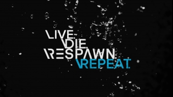 Live Die Respawn Repeat Quote for Gamers 4K Wallpaper