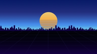 City View Synthwave 4k Wallpaper