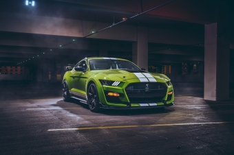 Green Ford Mustang Shelby GT500 Wallpaper