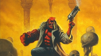 Hellboy Gun Up Wallpaper