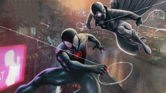 Miles Morales And Spider Noir Wallpaper