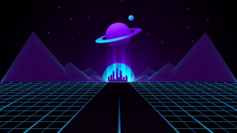 Synthwave Outrun Planet 4k Wallpaper