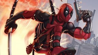 Deadpool Away From Attack Wallpaper