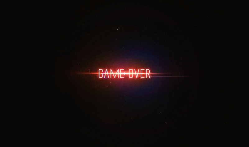 Game Over Typography 4k Wallpaper