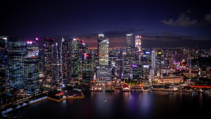 Singapore Panoramic Cityscape 4K 8K