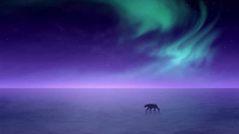 Northern Lights Winter Wallpaper