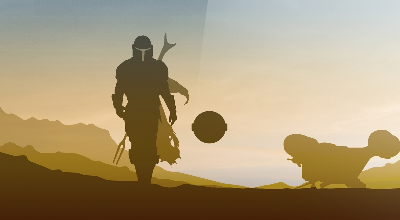 Star Wars The Mandalorian Minimalist 4k Wallpaper