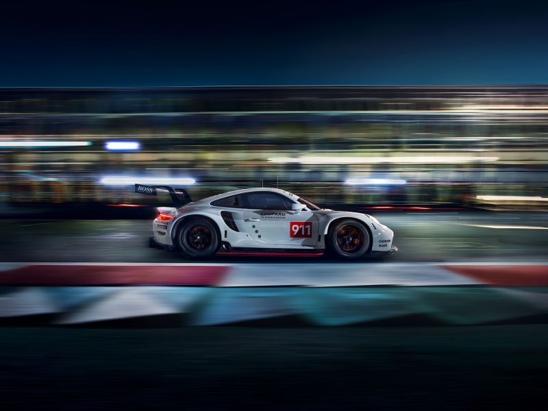 Porsche 911 RSR Side View 4k Wallpaper