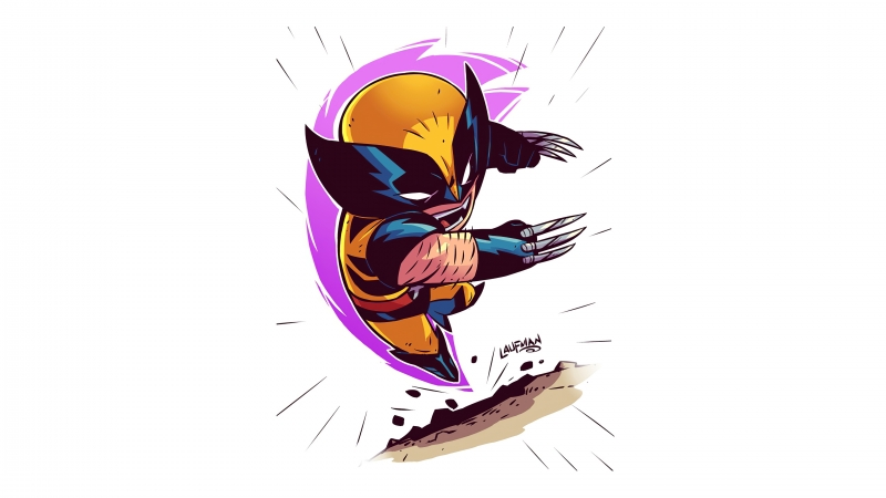Wolverine Minimalism Artwork 4k Wallpaper