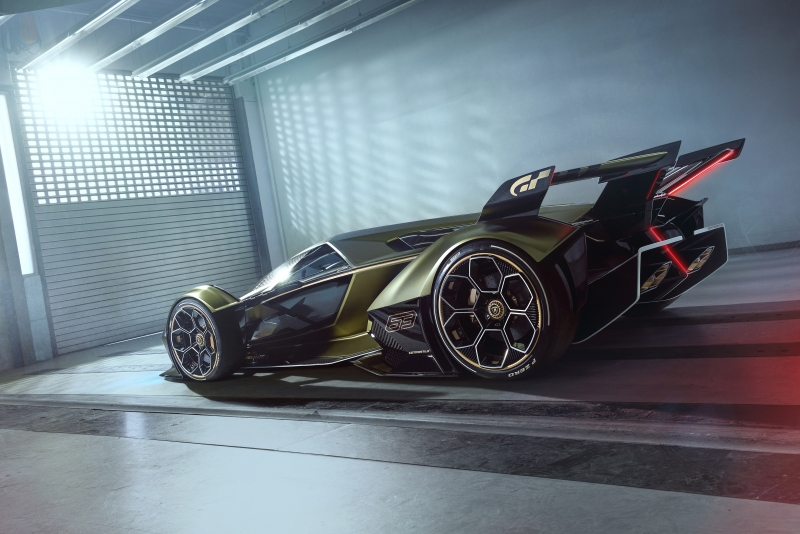 2020 Lamborghini Lambo V12 Vision Gran Turismo Side View Wallpaper