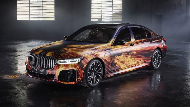 BMW 745e xDrive M Sport Art Car by Gabriel Wickbold 2020 4K Wallpaper