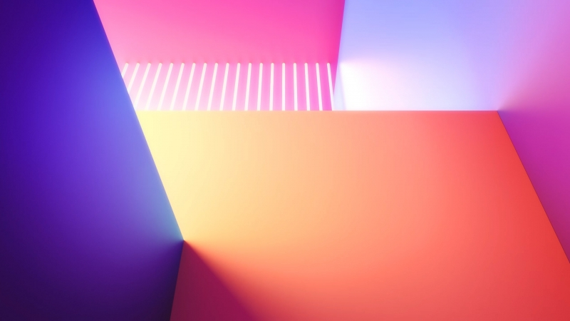 Geometrical Gradients LG G8 ThinQ Stock Wallpaper