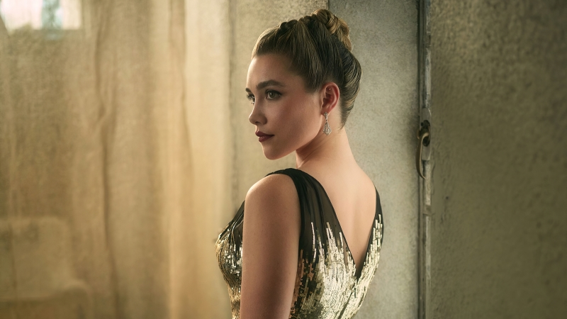 Florence Pugh Vanity Fair Oscar Portrait Wallpaper