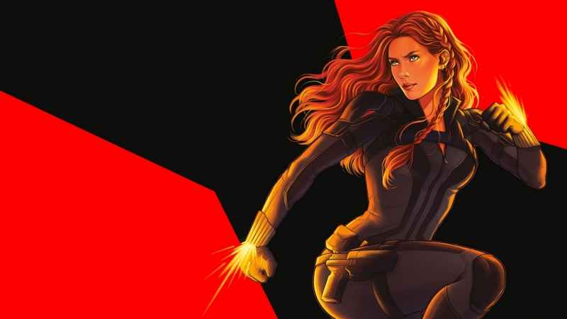 Black Widow Artwork Wallpaper