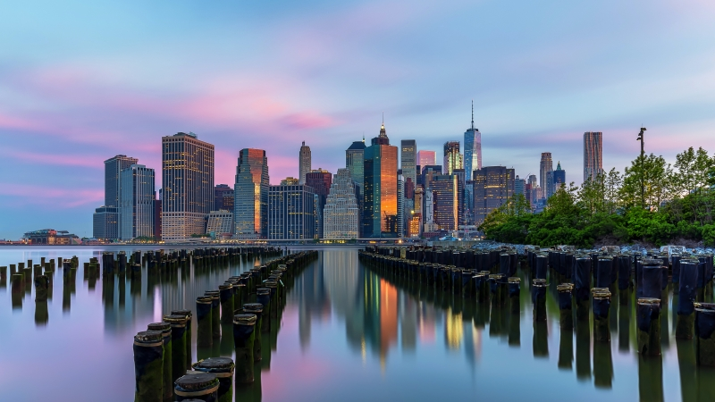 Brooklyn Bridge Park at Sunrise 5K Wallpaper