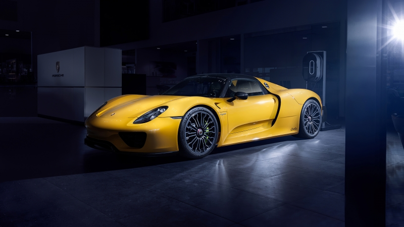 Porsche 918 Spider 4K Wallpaper