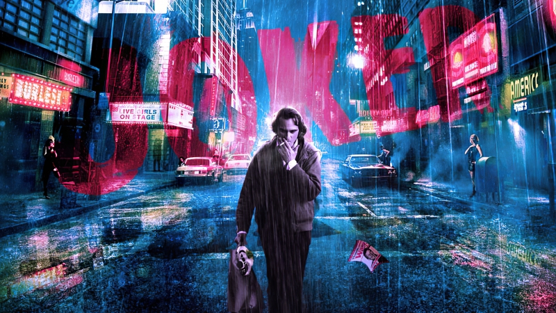Joker Smoking New York Wallpaper
