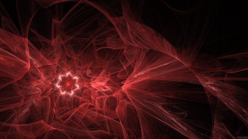 Red Phenomenal Fractal 4K HD Wallpaper