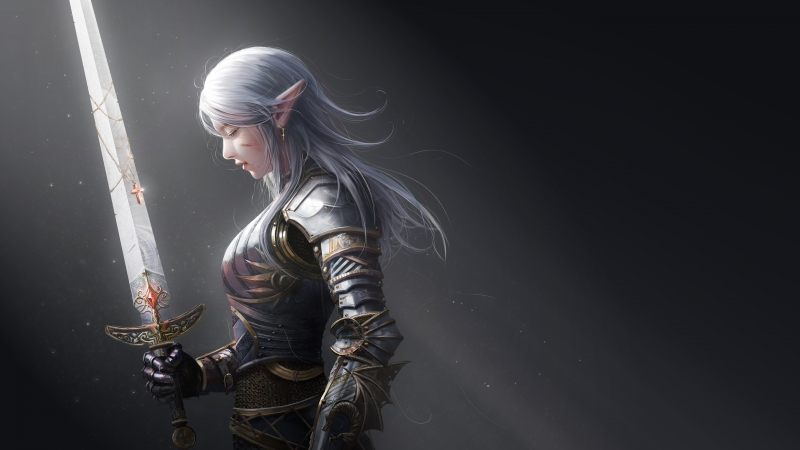 Elf Warrior Sword 4K HD Wallpaper