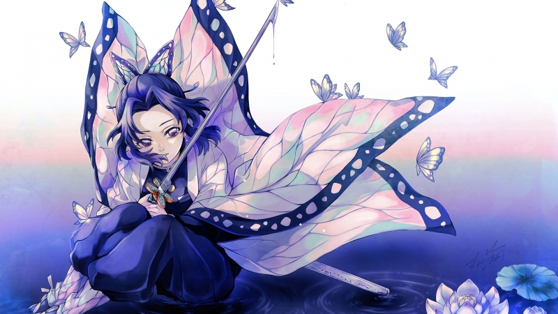 Demon Slayer Sword Butterfly 4K HD Wallpaper