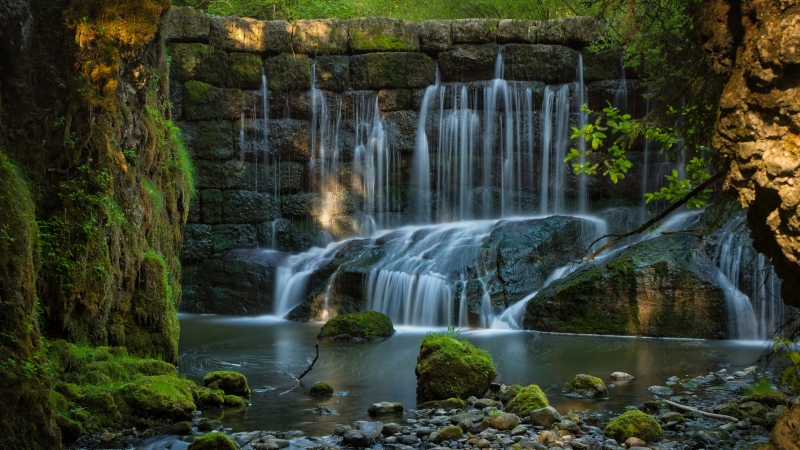 Earth Waterfall 4K 5K HD Wallpaper