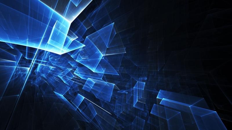 Abstract Blue Gaming 4K 8K HD Wallpaper