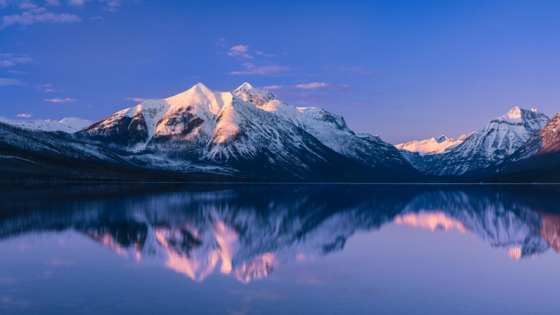 McDonald Lake Glacier National Park 4K HD Wallpaper