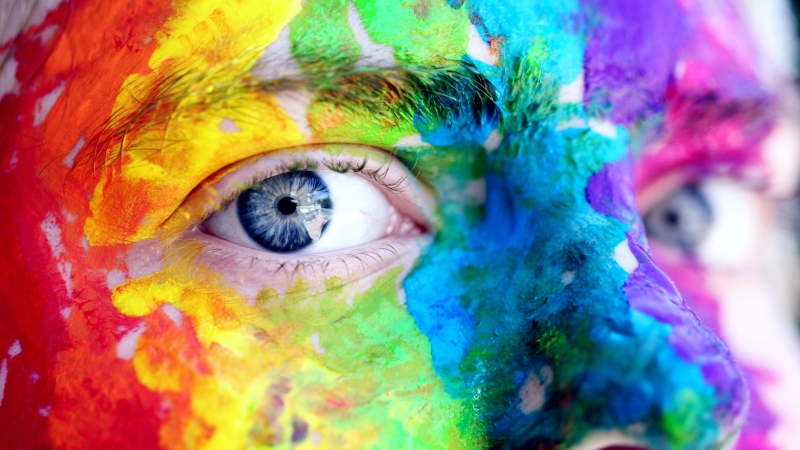 Person With Body Painting Art Artistic Blue Eyes 4K HD Wallpaper