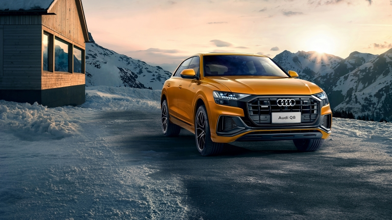 Audi Q8 4K HD Wallpaper