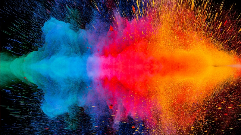 Colorful Dispersion 4K HD Wallpaper