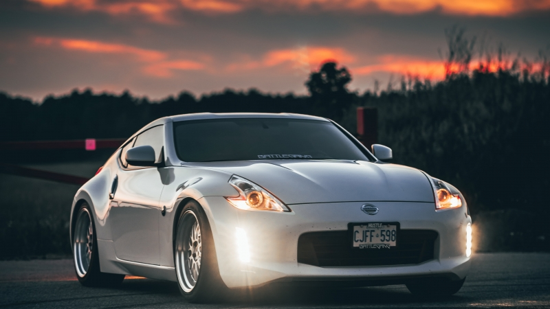 Nissan 370z Nissan Car Sports Car White 4K HD Wallpaper