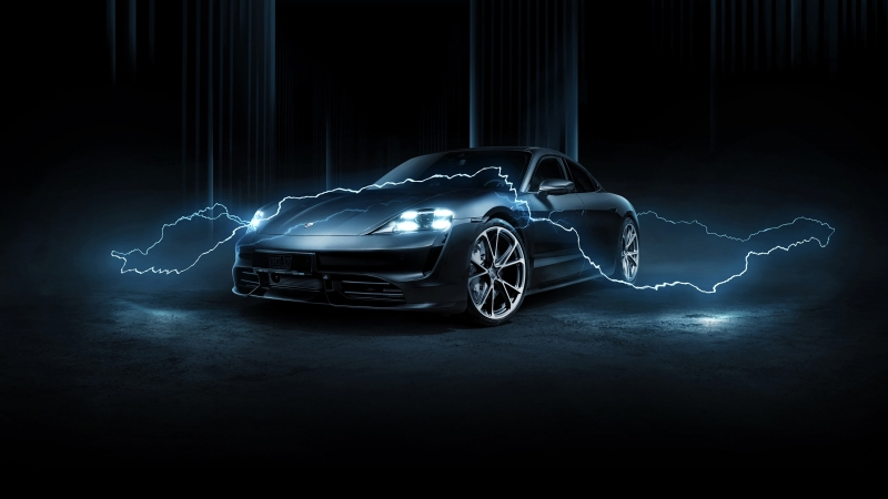 TechArt Porsche Taycan Turbo 2020 4K HD Wallpaper