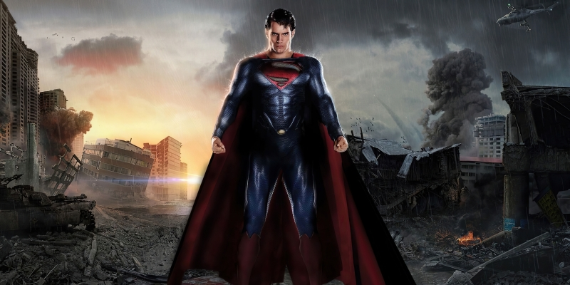 Superman Metropolis Destruction Wallpaper