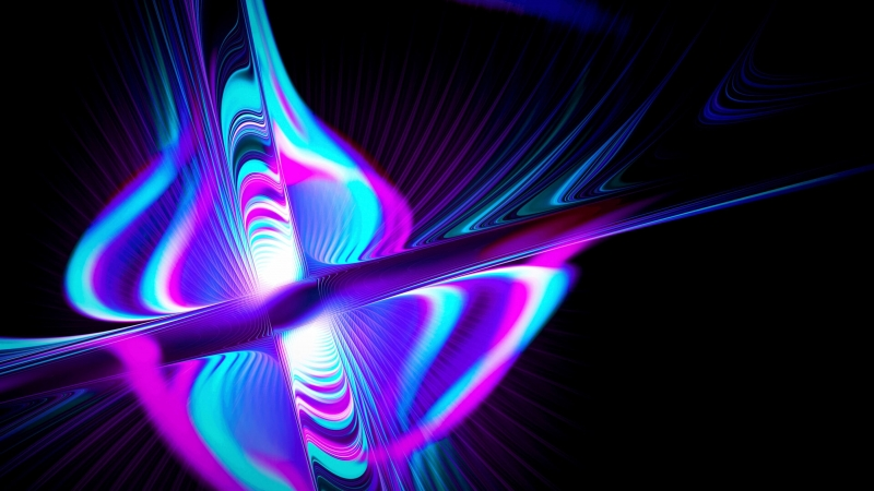 Rays Form Multicolored Glow Abstraction 4K HD Wallpaper