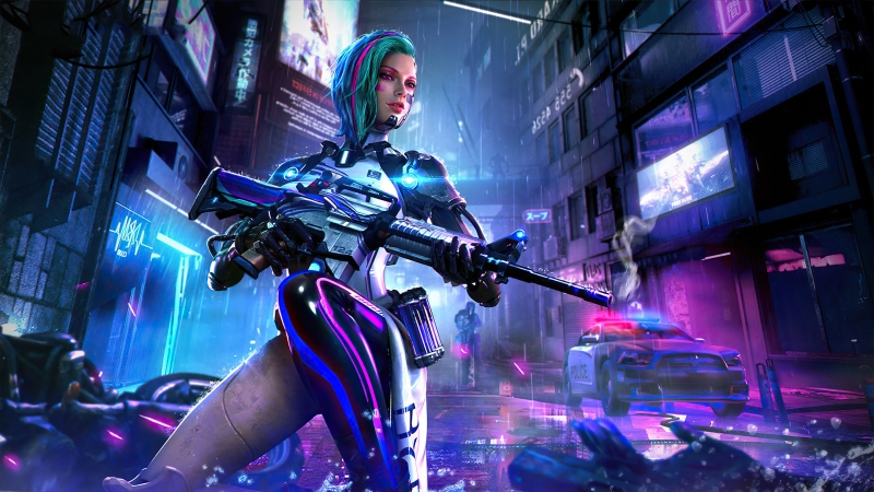 Cyberpunk Garena Free Fire 4K HD Wallpaper