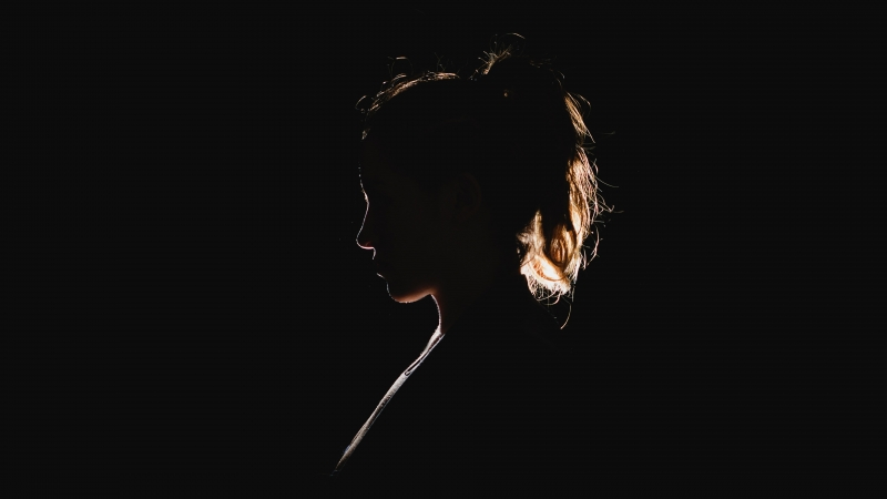 Dark Black Silhouette Of A Woman 4K HD Wallpaper