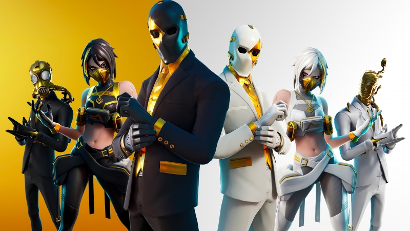 Fortnite Shadow And Ghost Team 4K HD Wallpaper