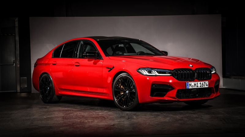 BMW M5 Competition Red 2020 4K 5K HD Wallpaper