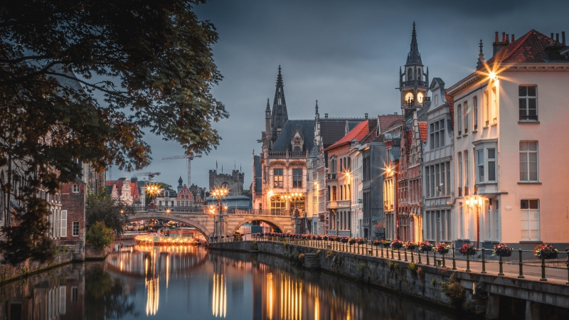 Man Made Ghent 4K 5K HD Wallpaper