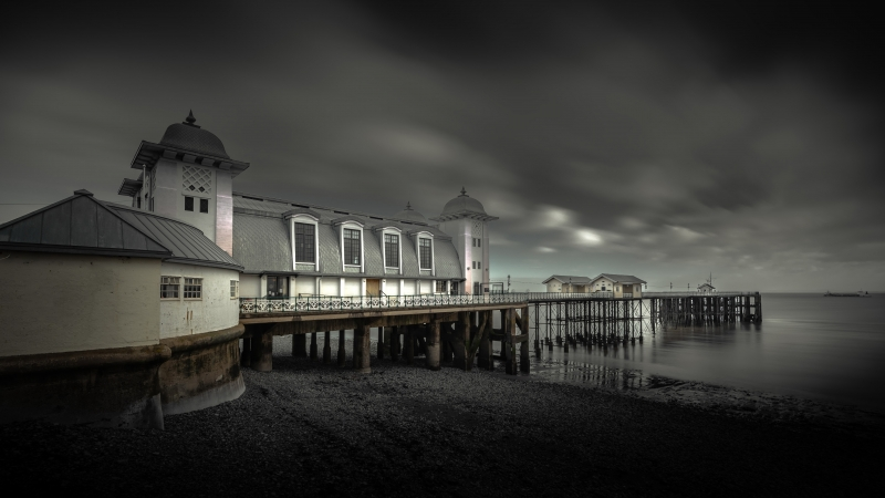 Man Made Pier 4K 5K HD Wallpaper
