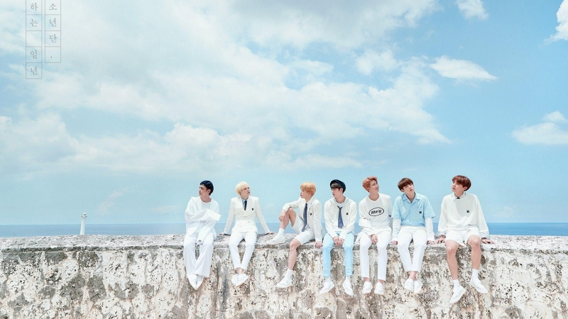 BTS Boys Sitting On Wall HD Wallpaper