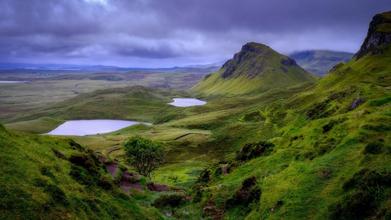 Earth Landscape Green Mountain 4K HD Wallpaper