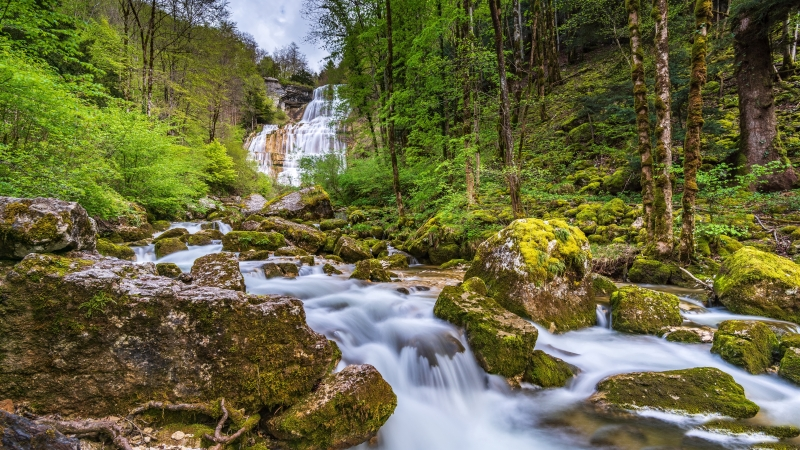Earth Waterfall 4K 8K HD Wallpaper