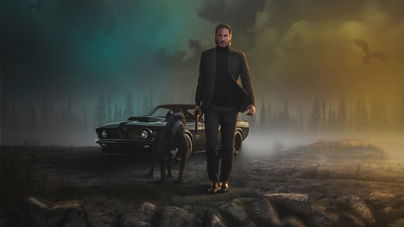 2020 John Wick Dog 4K HD Wallpaper