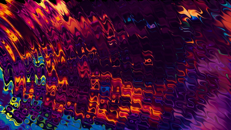 Multi Coloured Abstract Wave 4K  HD Wallpaper