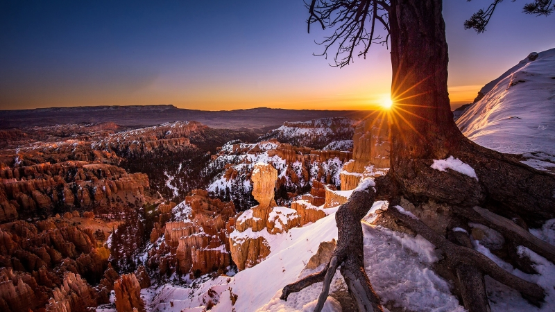 Bryce Canyon National Park During Sunset HD Wallpaper