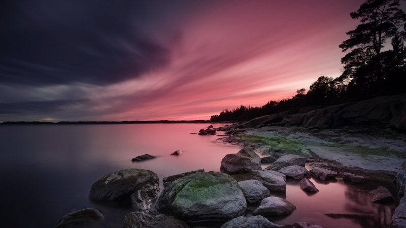 Photography Lake Under Coloured Sky During Sunset 4K HD Wallpaper