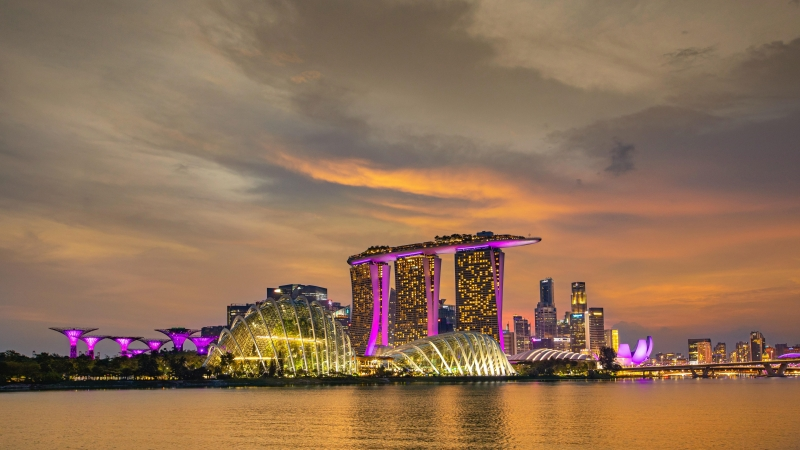 Singapore Buildings 4K 5K HD Travel Wallpaper